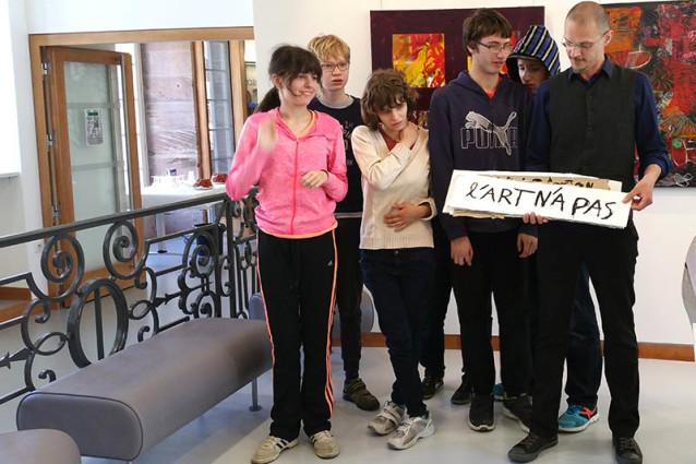 Vernissage de l'Expo Arts Visuels, Médiathèque de Colmar