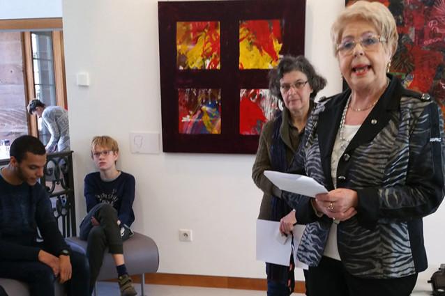 Vernissage de l'Expo Arts Visuels, Madame Charluteau, Conseil Municipal de Colmar