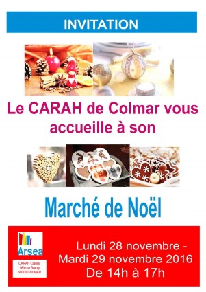 Flyer invitation Marché Noël 2016 Colmar 29