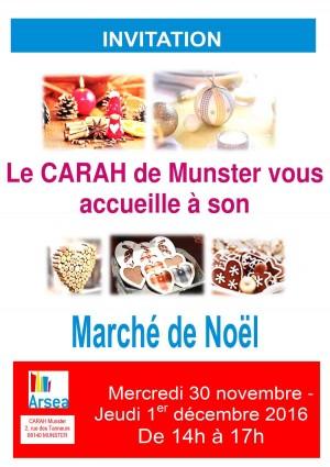 Flyer invitation Marché Noël 2016 Munster