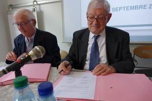 Claude Raztmann, Ancien Président de l'association GALA et le Docteur Andres Materne, Président de l'association ARSEA