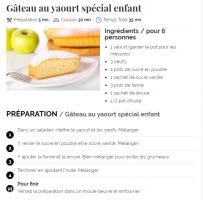 La recette du gâteau au yaourt