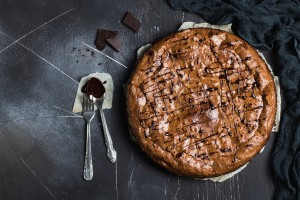 Chocolate brownie cake pie homemade pastries sweet cooking
